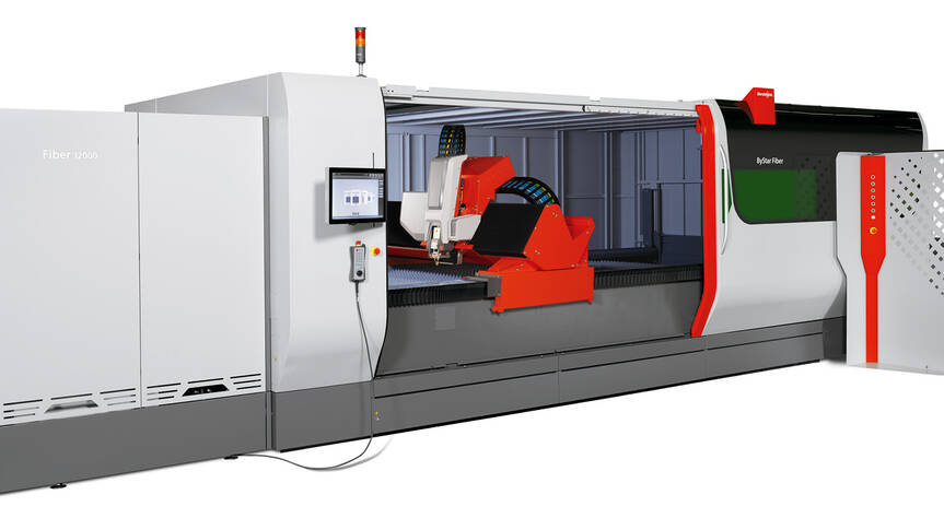 Bystronic lights up the next level of power in fiber laser cutting: The ByStar Fiber with 12 kilowatts. For higher speed and an expanded cutting spectrum.